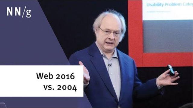 Web UX 2016 vs 2004 (Jakob Nielsen)